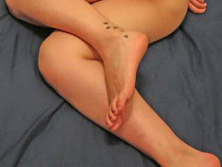 Girl 3:   Sexy girl in my bed posing for photos
