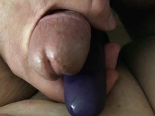 Sir is about to cum all over my pussy... I love watching him stroke his cock for me. Does this give anyone ideas on how to make this scene hotter?