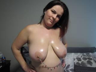 my festive nipple rings
