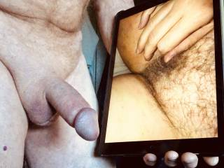 Cock out watching a friend finger herself.