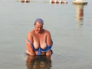 Velvet Marshmellow was turning me on showing me her amazing breast at the public beach today. Damn I love the way she makes me want her. I love her perfect tits. Makes my cock ROCKHARD and THROBBING.