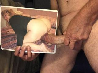 Another trib for dirtyoldeman\'s wite Pat. Love to watch my cock disappear between your wife Pat\'s thick meaty buns!