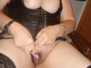 Beautiful succulent pussy!!  Luv to help her with my long tongue for a sensuous deep licking and sucking, wanting to feel her explode for a huge orgasm, drenching my lips with sweet juice mmmmmmmmmmmmmmmmmmm then for some throbbing hard thick cock...