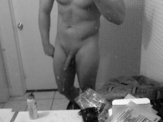 Very sexy body...rock hard.  Nice cock too!