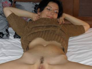 Oooooh fuck....what I wouldn't do to be laying right between your legs, fingering, licking and kissing your lips and clit.  Hopefully bringing you to several mind blowing orgasms.... :)  That would put a big smile on my face.  G