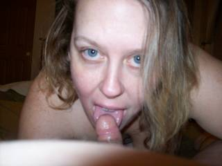 Those eyes, those pretty, sexy, naughty eyes of Lupo\'s wife!  I love the fact her hubby is a cuckold and she plays with me anytime she wants!