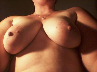 luv your sexy boobs, would luv to feel them bounce while u ride my cock