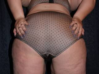You know I can't resist hot ass in see thru or sexy panties out come my cock it's jack off time