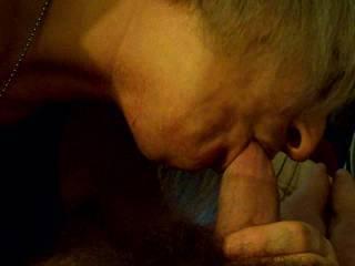 my sexy bbw sucking my hard cock