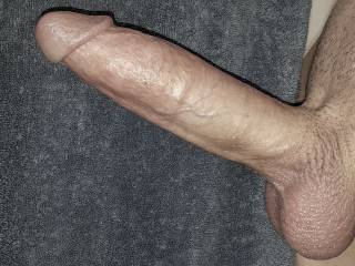 Just my cock and balls, ready for serious penetration.