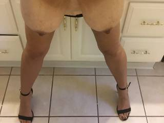 Doggystyle standing up is one of my favorite positions especially when my hubby is fucking both holes and I have another man's cock in my mouth. If we're with a couple I would love for the wife to rub my clit....yes!! What's your favorite position?