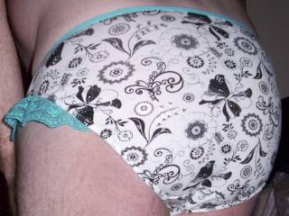Sexy little panties with pretty blue lace frills