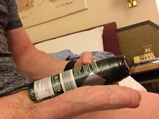 Comparing my huge dick to an aerosol can...