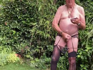 Another wanking session in my garden
