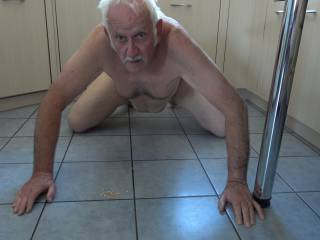 NAKED for at least 2 hours The bathroom and kitchen are carefully cleaned, rinsing is done etc. Floors and surfaces are wiped and cleaned. Then you sit naked on the floor in the kitchen and have dinner there without a plate on