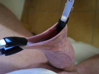 playing with some clamps to stretch my foreskin