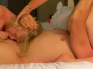 Face fucking my wifes coworker. While my wife fucks my face