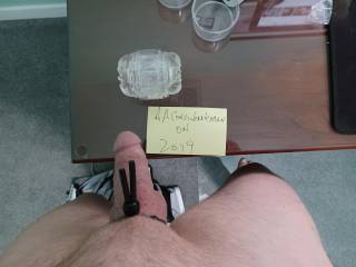 my cock ring and fleshlight