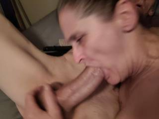 When I squeeze my Cock hard the head swells up big and makes her Orgasm every time. She Loves it.