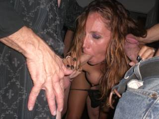 I\'m sooo naughty, I love having two hard cocks in my face while my pussy gets okayed with. Pm me if you like my being such a dirty slut :-)