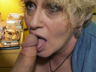Sure wish you were nibbling on the head of My Cock... your'e Hot...