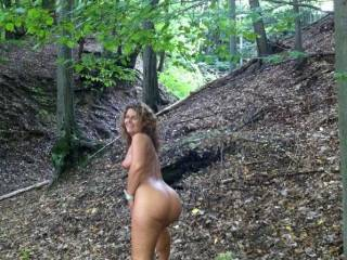 enjoy roaming about the forest nude.....hoping to  meet some campers