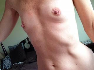 The cum was cleaned up and she is now ready for another load. Do you want to cover her tits with your hot load?