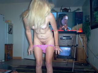 the wife getting naked,,,going to join her friends........what would you do??