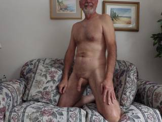Love being nude, looking for mature woman playmates.