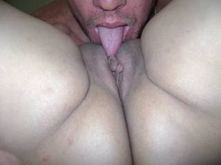 Eating her pussy