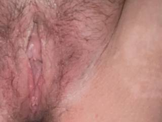 My pink Pearl, peeking Thru Wet lips. 🍒 This throbbing clit won't stop; I dropped my panties and fingered my pussy till I came 3x.  Orgasms courtesy of my fellow Zoigers. Jack off on me, rub my clit, lick my pussy and tell me about it! Tongue fuck