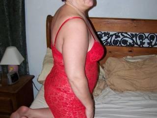 side view of my slut wife Stacy