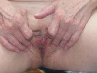 I was feeling horny but unfortunately when Lyn got in from work she wasn\'t but said i could take a pic aint she great!!