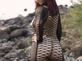 Looking at your beautiful body with this sexy fishnet dress got my cock as hard as it can be! I just can't stop stroking my hard cock looking at this pic!