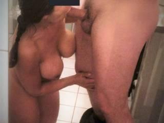 dam fine wow them wonderful tits. wish was me she was sucking.