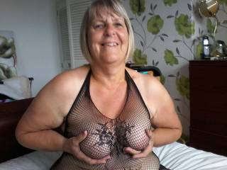 I love the feeling of the net rubbing against my nipples...can you tell?