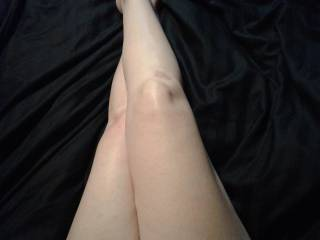 Long smooth silky legs with pretty feet