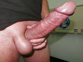 Good Morning Zoig! Many more likes for my big German COCK today thank you. Here is my huge super hard prick in the men\'s room! Have a great day!