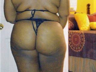 horny ebony bbw dresses up for me showing that thick ass