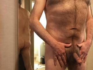 This is a contribution to the mirror shot theme.  Taken in a hotel room.  So much fun!