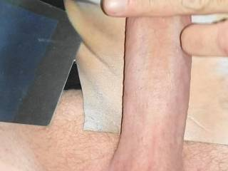 Getting my cock nice and hard to give nor100 her tits cum tribute she requested while watching her toy fuck her reverse tribute video she made with my cock! I love seeing my cock with her tits! Gonna tribute her tits reverse pic she made for my load!