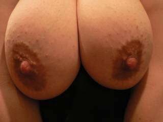 who wants to suck on my wife\'s tits?