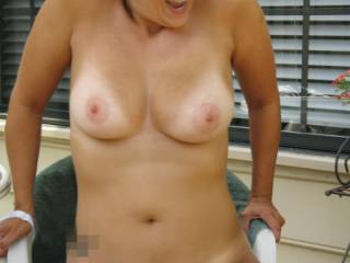 and the show is complete...totally nude within neighbors view.  Tell her what you think!