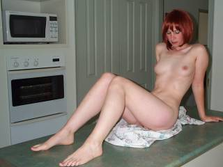 Mmmmm, I hope you are leaning more towards what's between your legs than any thing else.  I'd love to spread your sexy long legs....and enjoy my dinner.  Do you mind if I sucking and  fondling your sexy breasts an hard nipples.  G