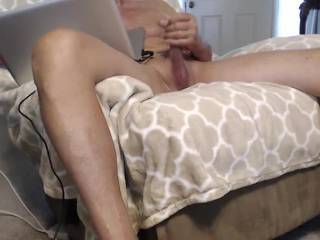 Looking at cock and stroking and hoping