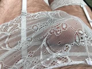 Playing in the wife panties....