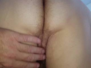 wifes big hairy ass, hairy pussy, hairy armpit & big swinging tit