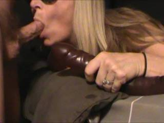 Mrs ikpm demonstrating her amazing blowjob abilities. Think she could handle more then 1?