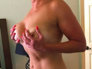My wife loves her tits sucked any offers?
