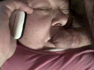 Multi tasking, talking on the phone and getting my masters creamy cum at the same time, will you let me get your creamy cum?
